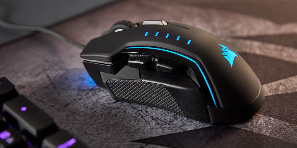 Comfortable /& Ergonomic RGB Gaming Mouse CORSAIR GLAIVE Interchangeable Gr